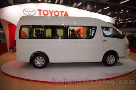 toyota hiace 2015 toyota hiace at bus and special vehicle show 2015 indian autos blog