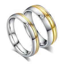 verlobungsring silber oder gold edelstahlring paare damen herren hochzeit ringe gold silber