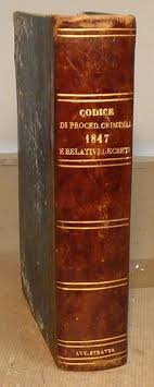 libreria giuridica torino codice di procedura criminale con indice e decreti libreria
