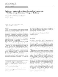 radiologist supply and workload international comparison working