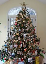 prim tree gifts home decor christmas tree with cross stitch ornaments wonderful idea to