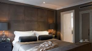 Armani Bedroom Furniture by Rich Chocolate Suede Padded Wall With Cappuccino And Charcoal