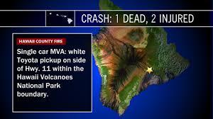 deadly car crash sunday night in volcano