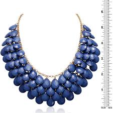 blue crystal statement necklace images Shop gold over brass royal blue crystal statement necklace 18 jpg