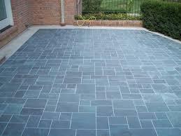 Design For Outdoor Slate Tile Ideas Patio Tile Garden Design