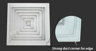 wave basement ventilation systems high quality square aluminum alloy 4 way supply air diffuser