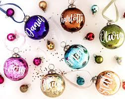 mercury glass ornaments etsy