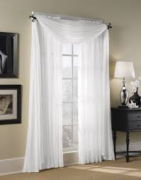 Sheer Curtains With Valance Bedrooms Window Sheers White Curtain Panels Living Room Drapes 1 2