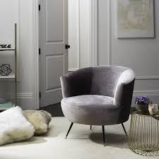 Grey Accent Chair Safavieh Mid Century Modern Arlette Velvet Grey Accent Chair