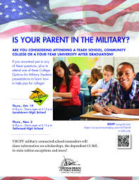 military counselors offer college planning workshop the core