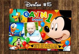 mickey mouse printable birthday invitations images invitation