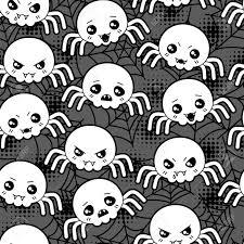 cute halloween pattern background seamless halloween kawaii cartoon pattern with cute spiders
