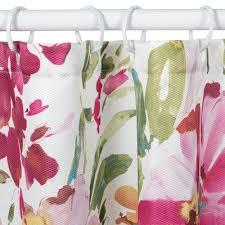 Pink Flower Shower Curtain Floral Shower Curtain