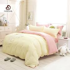 Pink And Yellow Bedding Solid Color Duvet Cover Sets Solid Color Duvet Coverssolid Pink
