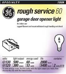 garage opener light bulb 60w rough service garage door opener light bulb pack of 2