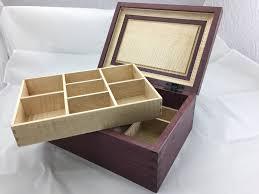 keepsake box purpleheart tiger maple keepsake box king s woodworking inc