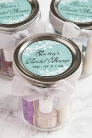 bridal shower gifts for guests pedicure in a jar bridal shower favors weddings ideas from evermine
