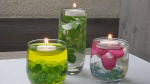 Floating Candle Centerpieces by Diy 3 Way Floating Candle Centerpiece Diwali Speci Youtube