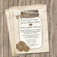 jar wedding invitations templates jar wedding invitation sets with jar