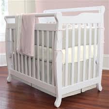 Portable Crib Bedding Light Pink Linen Portable Crib Bedding Carousel Designs