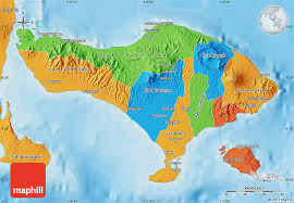 bali indonesia map political map of bali
