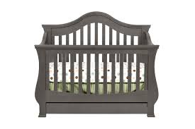 Convertible Crib With Toddler Rail Ashbury 4 In 1 Convertible Crib With Toddler Rail Manor Grey