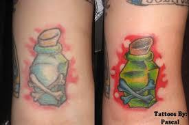 poison bottle tattoo by redsamuraidragon on deviantart