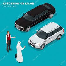 voiture de luxe homme d u0027affaires arabe choisit la voiture de luxe plat 3d vector