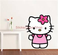 kitty wall decal small decoration ideas cute lovely