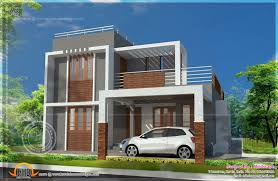 Home Design Plan View Small Double Storied Contemporary House Plan Indian Plans Home
