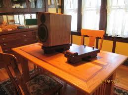 solid walnut desktop speaker stands techtalk speaker building