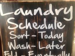 laundry schedule wood primitive sign wall decor gift ideas