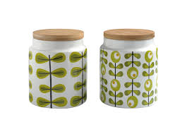 decorative ceramic kitchen canisters tea coffee sugar biscuit amusing orla kiely storage jar the treasure hunter well designed quirky picture of in