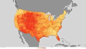 Us Climate Map With Rising Greenhouse Gases U S Heat Waves To Become More