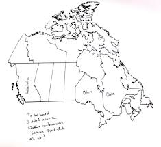 Blank Us And Canada Map Printable by Art U0026 Design Americans Try At Canadian Geography And Fail