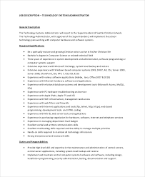 Admin Job Resume Sample by Systems Administrator Job Description Resume