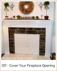 fireplace cover up decorate ideas lovely fireplace cover up