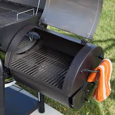 char griller trio gas charcoal smoker grill hayneedle