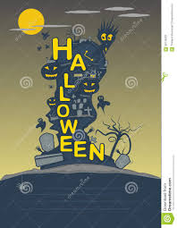 halloween party poster design vector template stock vector image
