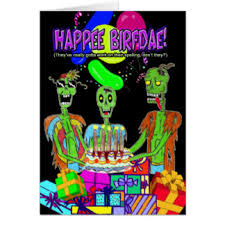 funny zombie cartoon greeting cards zazzle com au