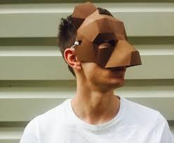 bear halloween mask half face bear mask papercraft paper bear make your own