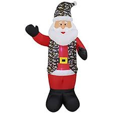 Tall Inflatable Christmas Decorations by Amazon Com 8 Foot Tall Lighted Christmas Inflatable Patriotic