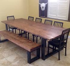 Wood Dining Room by Hand Made Real Wood Dining Table By Lonesome Burro Llc