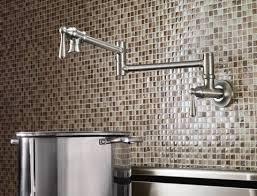 pot filler kitchen faucet shop moen pot filler spot resist stainless 2 handle wall mount pot