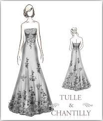 dress sketches tulle u0026 chantilly wedding blog