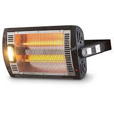 Patio Comfort Heater by Comfort Zone Quartz Electric Heater Wall Mount 1500 Watt