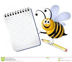 busy bumble bee notepad royalty free stock image image 5667296