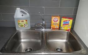 To Clean Stainless Steel Sink Stains Naturally With Baking Soda - Cleaning kitchen sink with baking soda