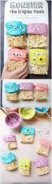 easy halloween monster rice krispie treats recipe rice krispie