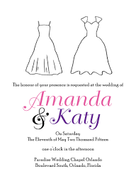 sample lgbt wedding invitations wedding dress invitations by r2